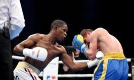 World series of boxing: Ukraine Otamans vs Cuba Domadores Royalty Free Stock Image