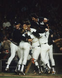 1978 World Series Champion, New York Yankees. Members of the 1978 World Series Champion New York Yankees celebrate. (Image taken from color slide royalty free stock photos