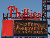 World series champs. Sign at citizens bank park world series champs philadelphia phillies Royalty Free Stock Images