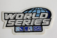 2004 World Series Patch Royalty Free Stock Photo