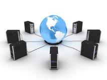 World server america Stock Photo