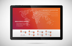 World service company tablet app Royalty Free Stock Image