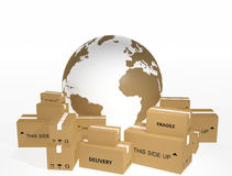 World shipments Stock Image