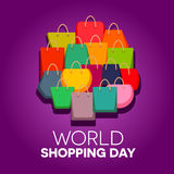 World Shopping Day. Vector illustration, 11 November Stock Photos