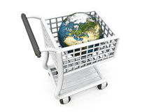 World in shopping trolley Stock Image