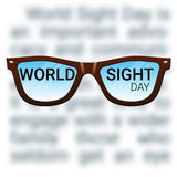 World Sight Day background. Fighting blindness, cataract, glaucoma, vision impairment. Eye health concept. Stock Images