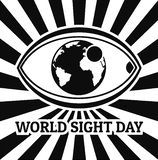 World sight day concept background, simple style stock illustration