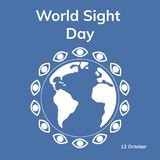 World sight day. Flat  stock illustration Royalty Free Stock Image
