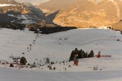 World Ski Men Ita Downhill Race Stock Photo