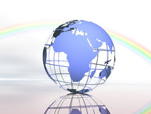 World and sky royalty free stock photography