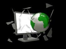 World smashing screen Royalty Free Stock Image
