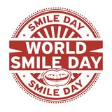 World Smile Day, rubber stamp. Vector Illustration Stock Illustration