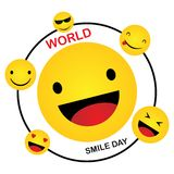 World Smile Day. Smile Icon Vector. happiness Symbol, smile face expression, vector illustration. Template design vector illustration