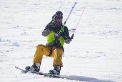 World snowkite contest Altosangro 2016 Royalty Free Stock Photo
