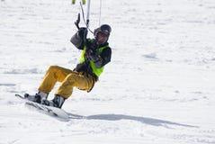 World snowkite contest Altosangro 2016 Stock Photos