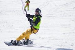 World snowkite contest Altosangro 2016 Stock Image