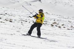 World snowkite contest Altosangro 2016 Royalty Free Stock Image
