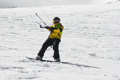 World snowkite contest Altosangro 2016 Stock Photography