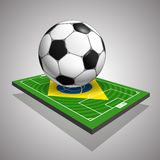 World soccer championship in Brazil illustration Stock Images