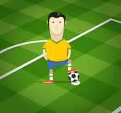 World soccer championship in Brazil illustration Stock Photography