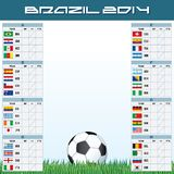 World Soccer Championship Groups royalty free illustration