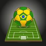 World soccer championship illustration Royalty Free Stock Image