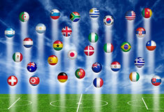 World soccer concept Royalty Free Stock Image