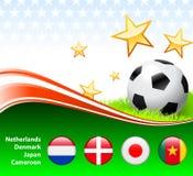 World Soccer Event Group E. Original Illustration stock illustration