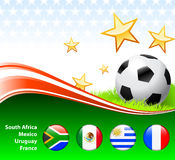 World Soccer Event Group A. Original Illustration stock illustration