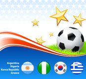 World Soccer Football Group B Stock Photo