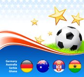 World Soccer Football Group D Royalty Free Stock Photos