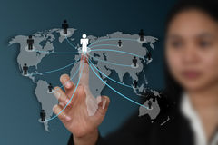 World social network concept Stock Images