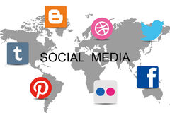 World Social Network Stock Image