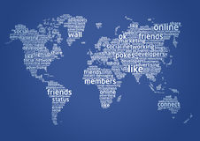 The world of social networking Stock Photo