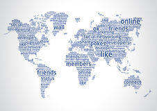 The world of social networking 2 Stock Image