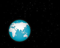 World in space with many stars Stock Image