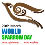 World Sparrow Day Background. World Sparrow Day on March 20 Background Stock Images
