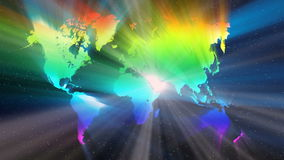 The world in spectrum and colorful beam stock video