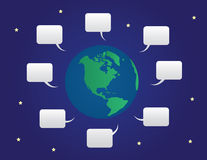 World Speech Bubbles Stock Photo
