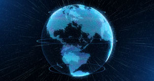 World sphere hologram, virtual planet Earth Royalty Free Stock Images