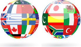 World spheres Royalty Free Stock Images