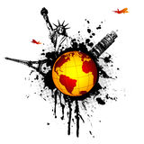 World-splat Royalty Free Stock Image