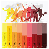 World Sport Isolate Action Icon Set Stock Image