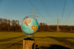 The world on stake Stock Image