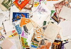 World stamps. Communication/mail background them stock photos