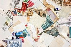 World stamps. Communication/mail background theme Royalty Free Stock Image