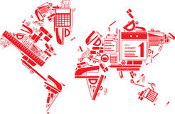 The world of stationery Stock Photography