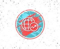 World Statistics line icon. Chart sign. Stock Photos