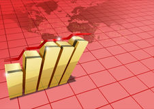 World statistics. Vector concept illustration of world statistics Royalty Free Stock Images