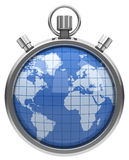 The world stopwatch Royalty Free Stock Photography